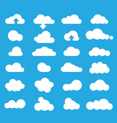 weather clouds icon set vector image vector image