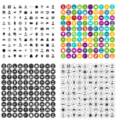 100 favorite work icons set variant vector image