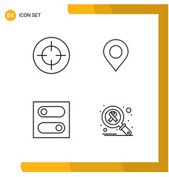 4 user interface line pack modern signs and vector
