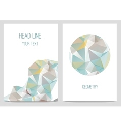 Abstract brochure and flyers in polygonal style vector image