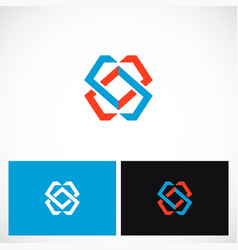 abstract colored geometry shape logo vector image