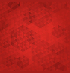 abstract red mosaic background polygonal pattern vector image