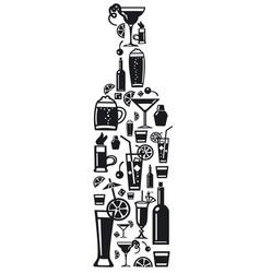 Alcohol bar drinks vector
