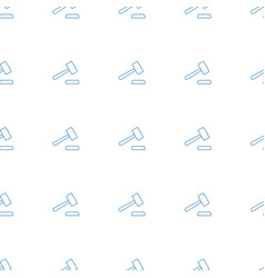Auction hummer icon pattern seamless white vector
