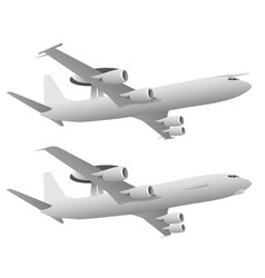 awacs airborne warning and control system aircraft vector image