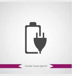 battery icon simple vector image