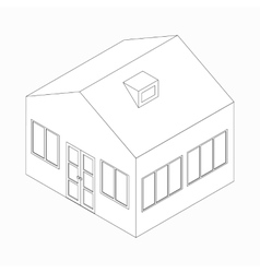 Big detached house icon isometric 3d style vector