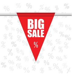 big sale icon in red color vector image