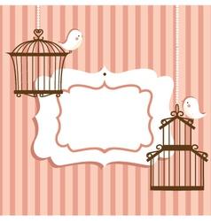 Bird cage frame vector image