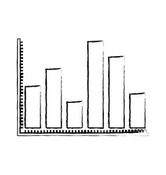 Blurred silhouette of statistical graphs contour vector