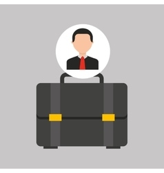 Businessman movie portfolio business icons vector
