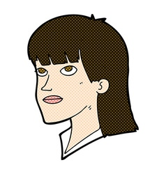 comic cartoon serious woman vector image