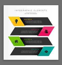 Dark business infographic banners vector