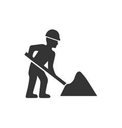 Digging icon vector