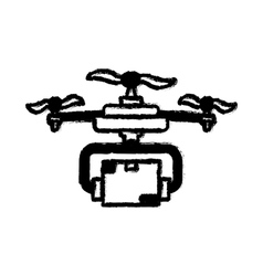 Drone robot technology vector