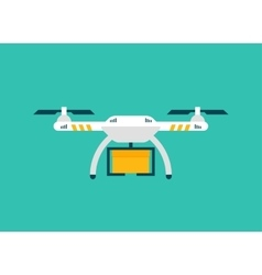 Drone Sky viewer icon logo and template vector image