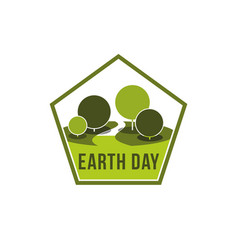 earth day world ecology green nature icon vector image