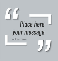 empty quote text box design element in vector image