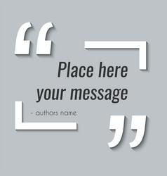 Empty quote text box design element vector