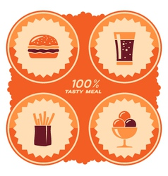 Fast food label vector image