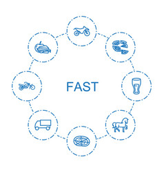 Fast icons vector
