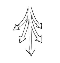 Five arrows vector