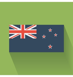Flat flag of New Zealand vector