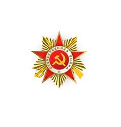 flat patrioric war ussr star medal vector image