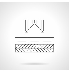 Floor heating circulation flat line icon vector