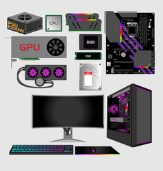 Gaming pc vector
