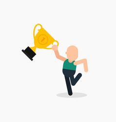 goal achievement winning prize concept vector image