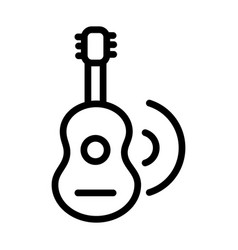 guitar music melody sound line style icon vector image