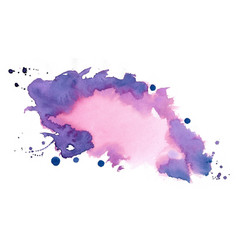 Hand painted watercolor stain texture background vector