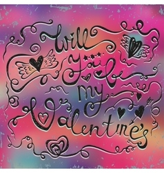 Happy Valentines day typographical holiday card on vector image vector image