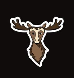Head of a elk vector