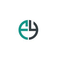 initial letter fy creative design logo vector image