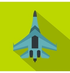 Jet fighter plane icon flat style vector