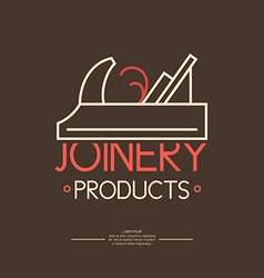 Joinery icon label vector