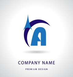 Letter A logo icon design template element vector image