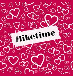 liketime template for social media blog vector image