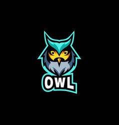 logo owl e-sport and sport style vector image