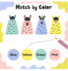 match color funny game for kids vector image