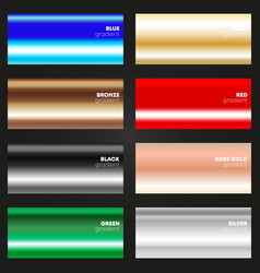 multicolor gradient texture set various color vector image