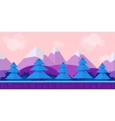 Nature landscape background for games vector