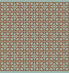 Pattern with circles and squares vector