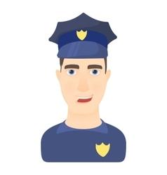 Policeman icon cartoon style vector image