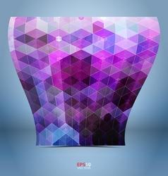 Purple black mosaic template vector image