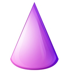 Purple cone form on white vector