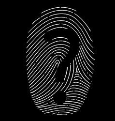 Question mark on a fingerprint vector