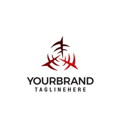 rotating windmill turbine logo design concept vector image